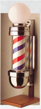 Marvy Model 410OS Two-Light On Stand Barber Pole 42-BP410OS-LIGHT