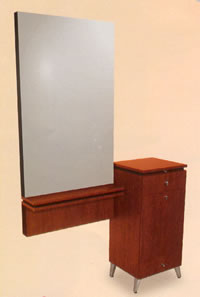 Collins QSEp Styling Station with Wall-Mounted Mirror 01-405-48