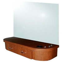 Wall Mounted Salon Styling Stations: 01-5507-48