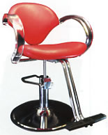 B&S Styling Chair (Clear Arm Rest) 52-CSH2177