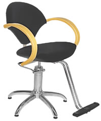 YCC Products Styling Chair 30-H2111BKS