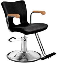 YCC Products Styling Chair 30-H2117BKR