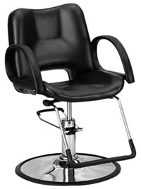 YCC Products Styling Chair 30-H6679BKR